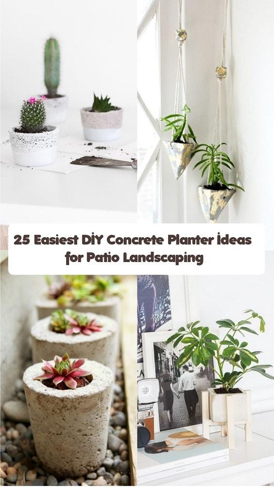 DIY Concrete Planter-min