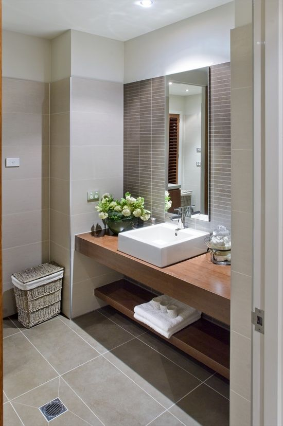 Gray And Brown Bathroom 1-min