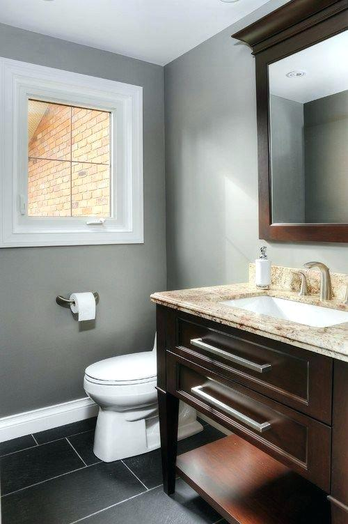 Gray And Brown Bathroom 10-min