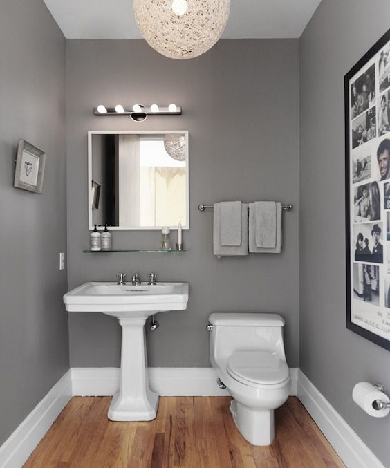 Gray And Brown Bathroom 14-min