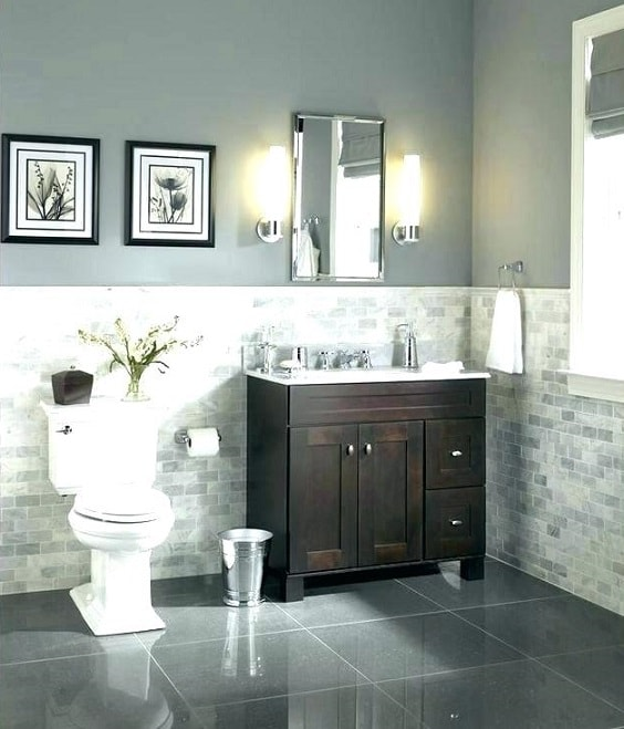 Gray And Brown Bathroom 19-min