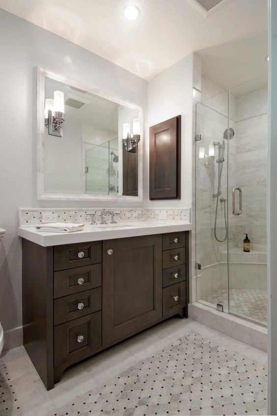 Gray And Brown Bathroom 23-min
