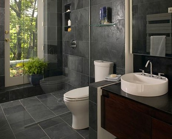 Gray And Brown Bathroom 24-min