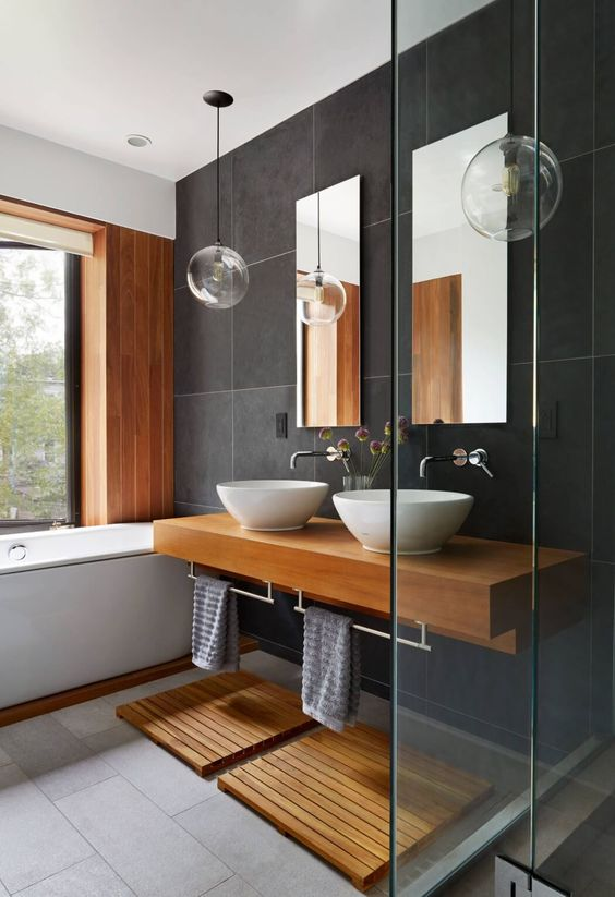 Gray And Brown Bathroom 25-min