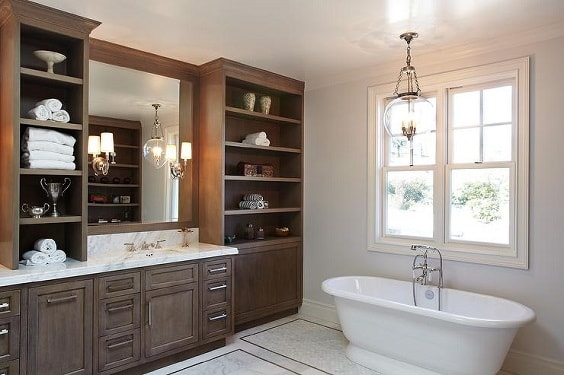 Gray And Brown Bathroom 26-min