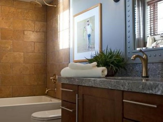 Gray And Brown Bathroom 6-min