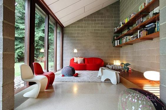 Mid Century Modern Living Room 11-min