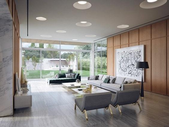 Mid Century Modern Living Room 3-min
