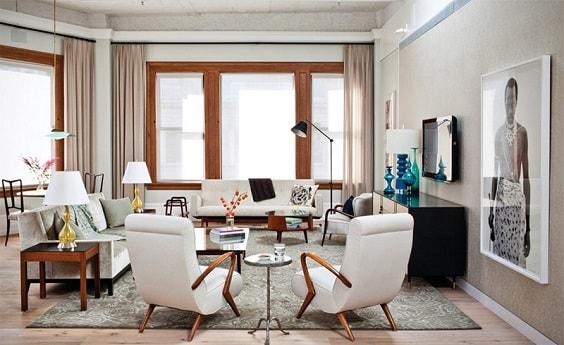 Mid Century Modern Living Room 5-min