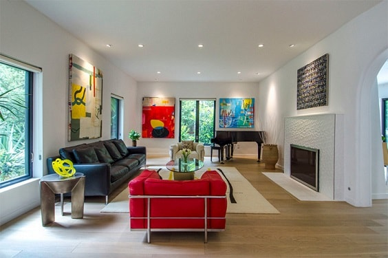 Mid Century Modern Living Room 9-min
