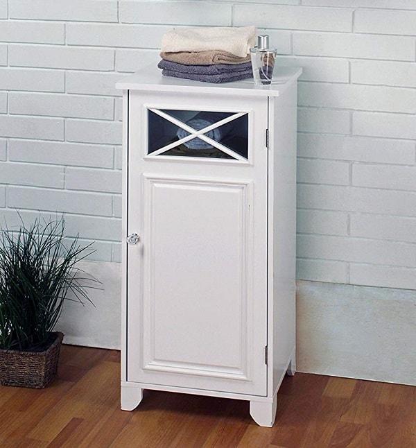 Small White Cabinet for Bathroom 1-min