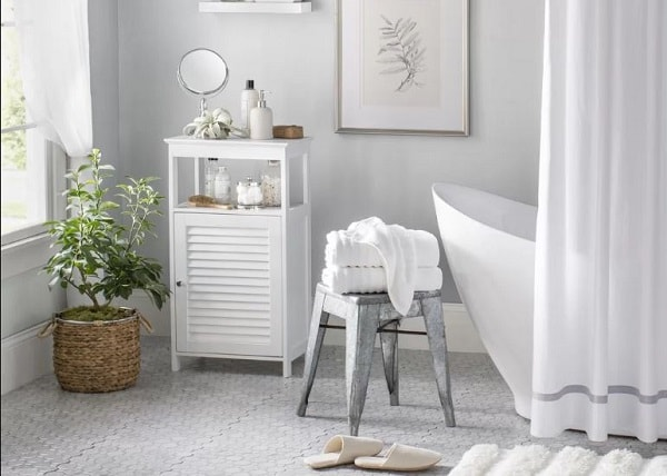 Small White Cabinet for Bathroom 10-min