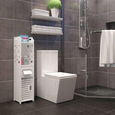 Small White Cabinet for Bathroom 11-min