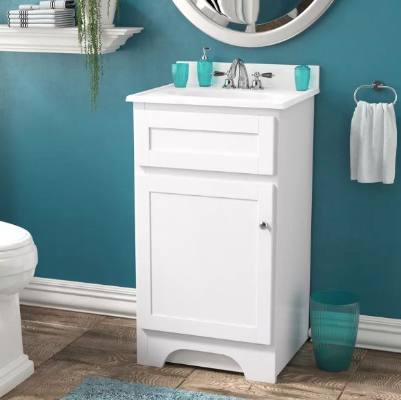 Small White Cabinet for Bathroom 14-min