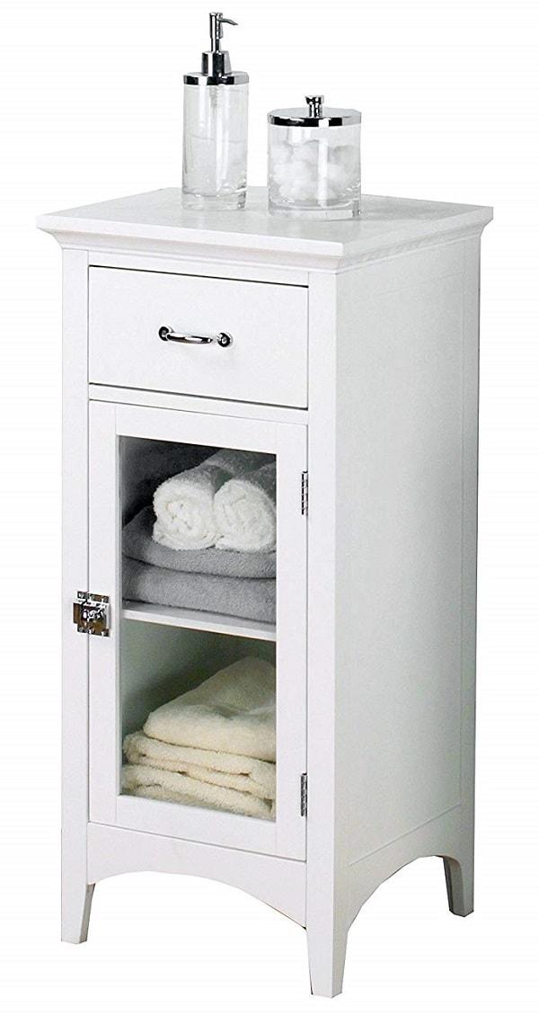 Small White Cabinet for Bathroom 15-min