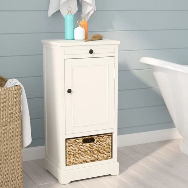 Small White Cabinet for Bathroom 2-min