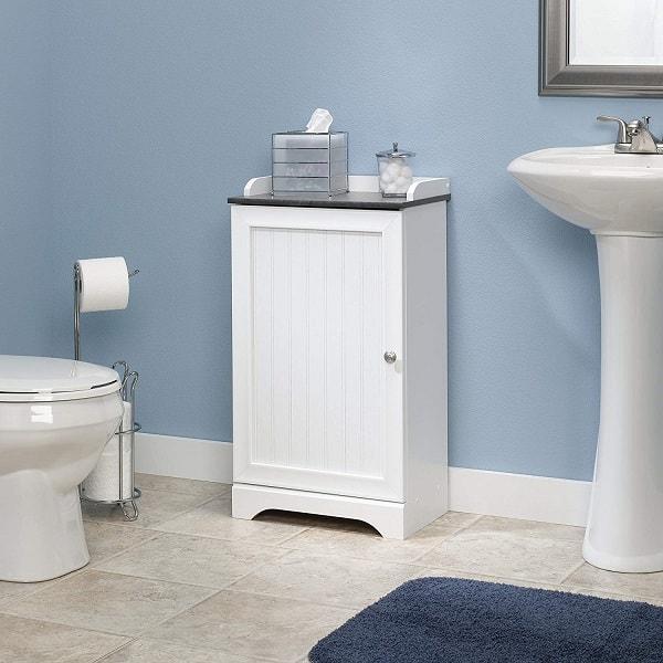 Small White Cabinet for Bathroom 3-min