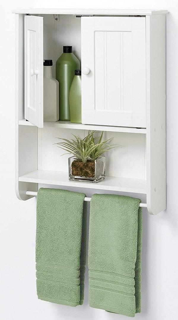 Small White Cabinet for Bathroom 5-min