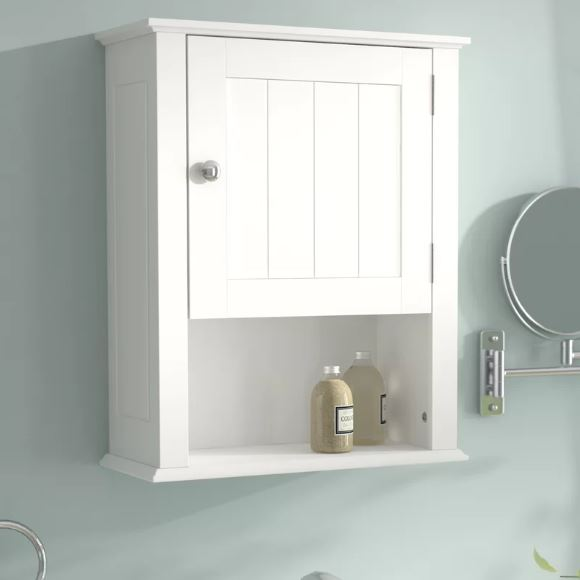 Small White Cabinet for Bathroom 8-min