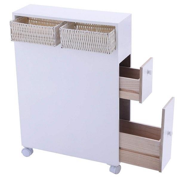 Small White Cabinet for Bathroom 9-min