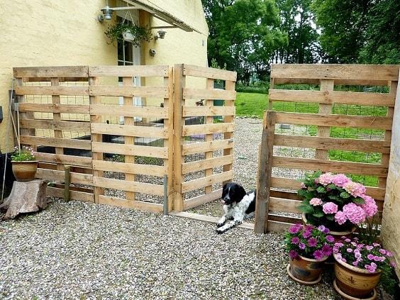 pallet garden fence 1-min