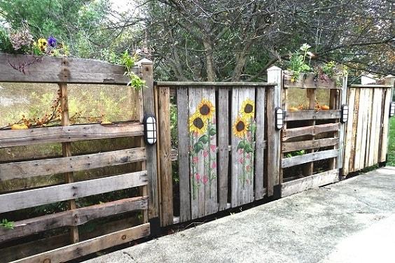pallet garden fence 21-min