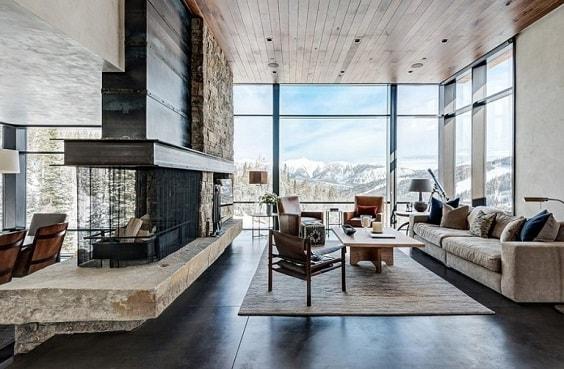 rustic living room 10-min