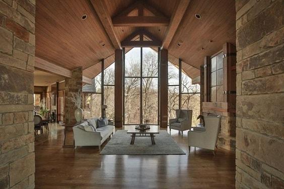 rustic living room 11-min