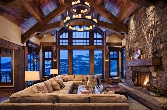 rustic living room 19-min