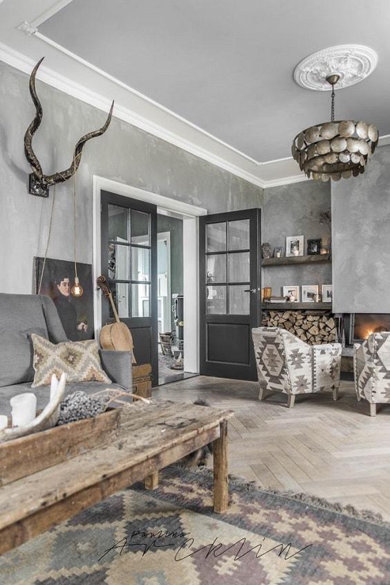 rustic living room 2-min