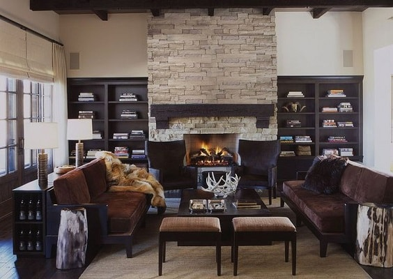 rustic living room 6-min