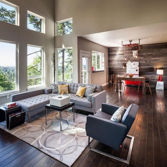 rustic living room 8-min