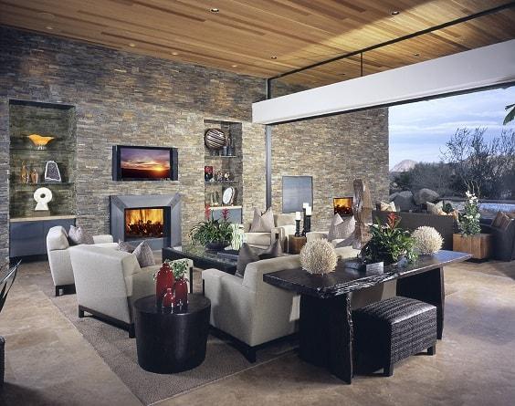 rustic living room 9-min