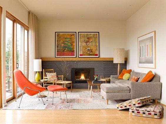 Mid Century Modern Living Room 23-min