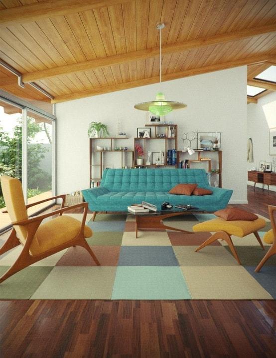 Mid Century Modern Living Room 24-min