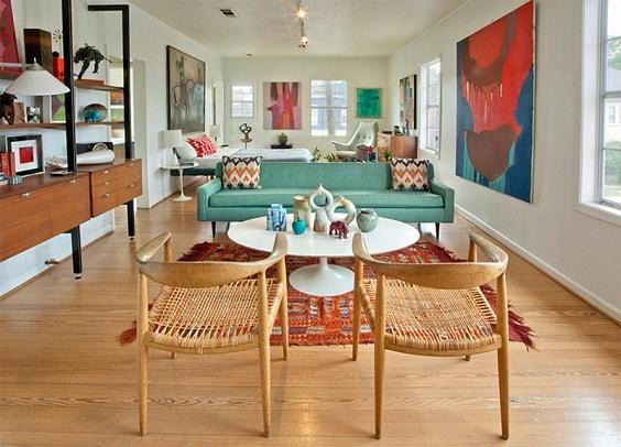 Mid Century Modern Living Room 27-min
