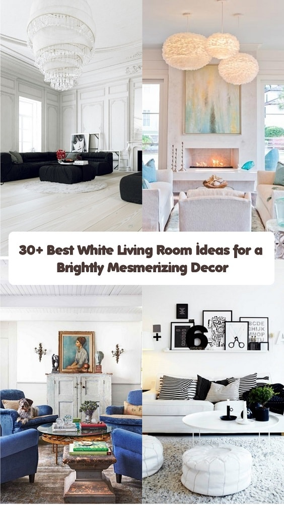 30+ Best White Living Room Ideas for a Brightly Mesmerizing Decor