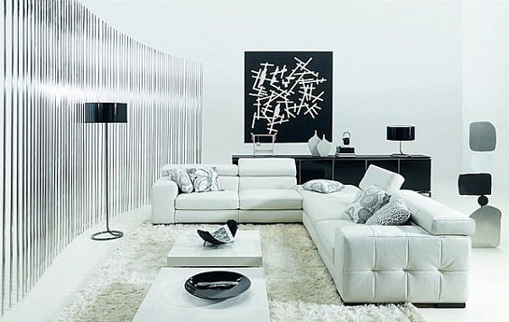 black and white living room 12-min