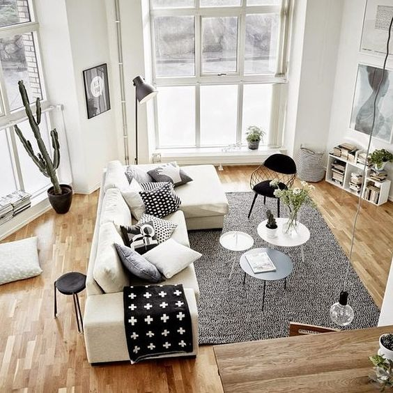 black and white living room 13-min