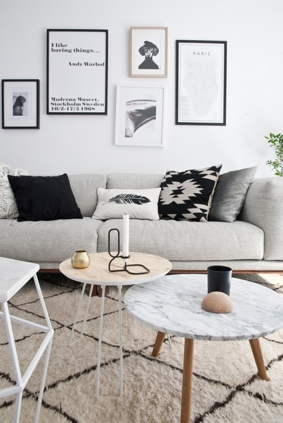 black and white living room 2-min