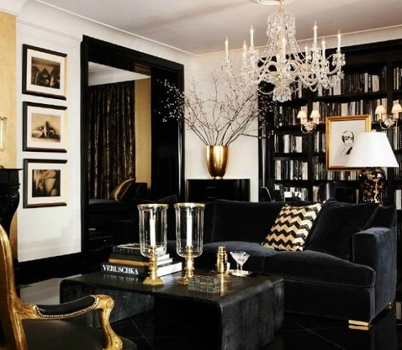 black and white living room 21-min