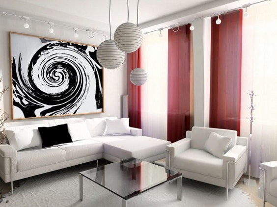 black and white living room 22-min