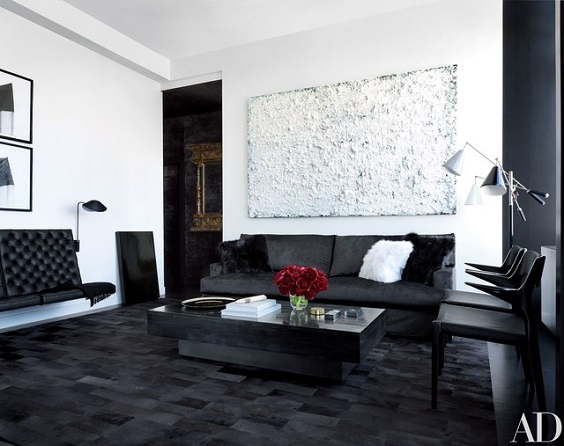 black and white living room 23