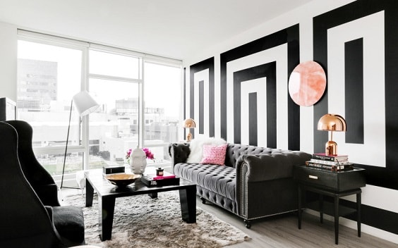 black and white living room 3-min