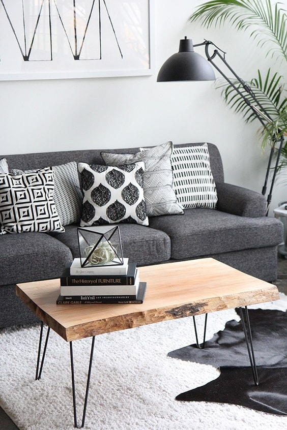 black and white living room 6-min