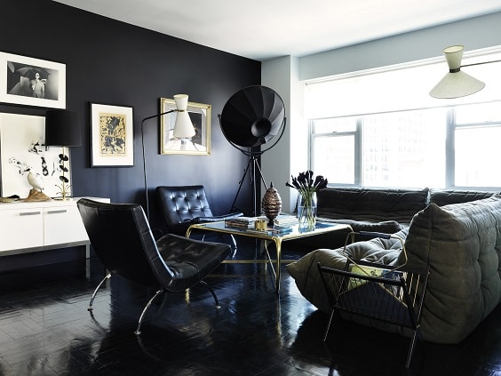 black and white living room 7-min