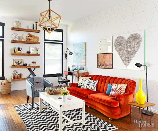 eclectic living room 11-min