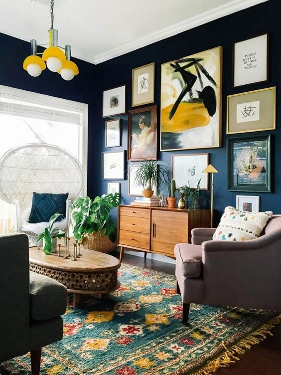 eclectic living room 14-min
