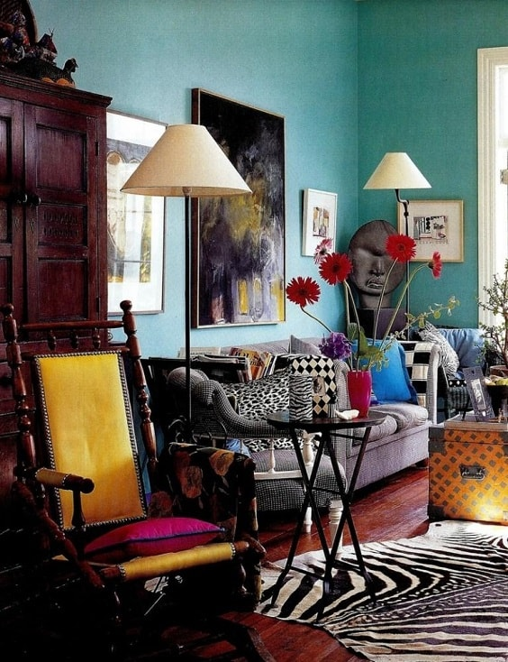 eclectic living room 18-min