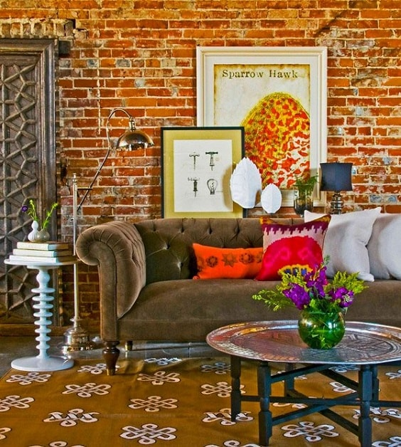 eclectic living room 3-min